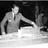 Model of Beverly Hilton Hotel, 1954