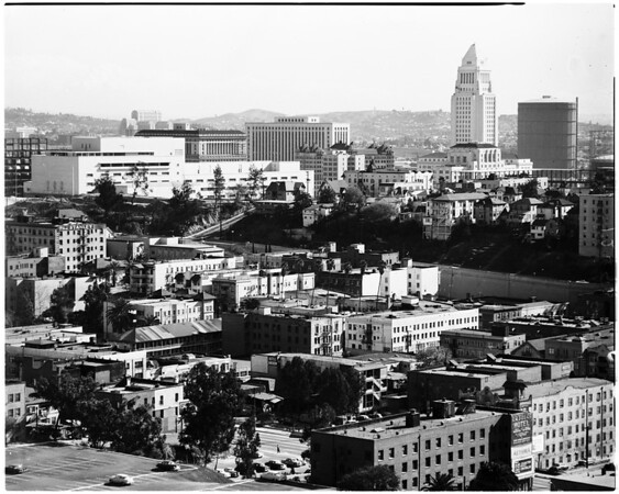 Clear weather in Los Angeles (no smog), 1958