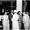 Madame Chiang reception, 1958