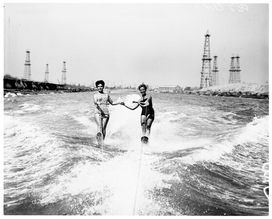 Water skiing -- Marine stadium, 1958