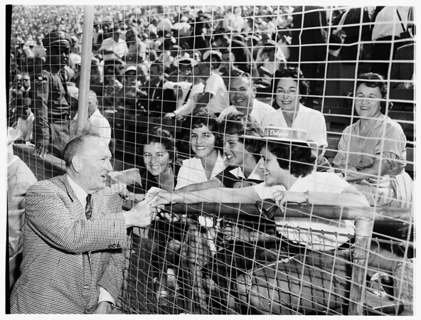 Baseball World Series, fourth game, Los Angeles versus Chicago White Sox, 1959