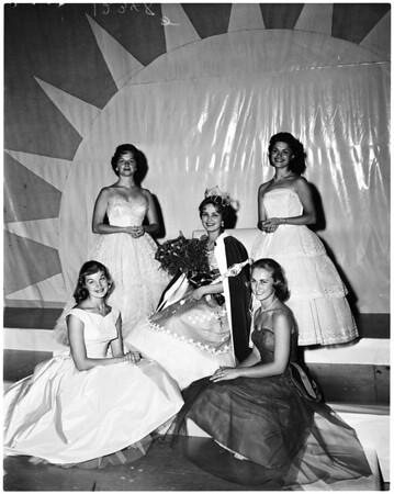 Alhambra High School neighbor queen, 1958