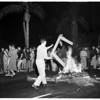 University of Southern California jubilation, frat row at 28th Street, 1954.