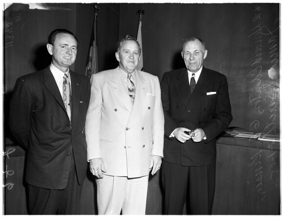 Coliseum new Commission members and new president, 1955