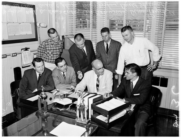 University of Southern California Judicial Council meeting (to end fraternity rowdyism), 1957