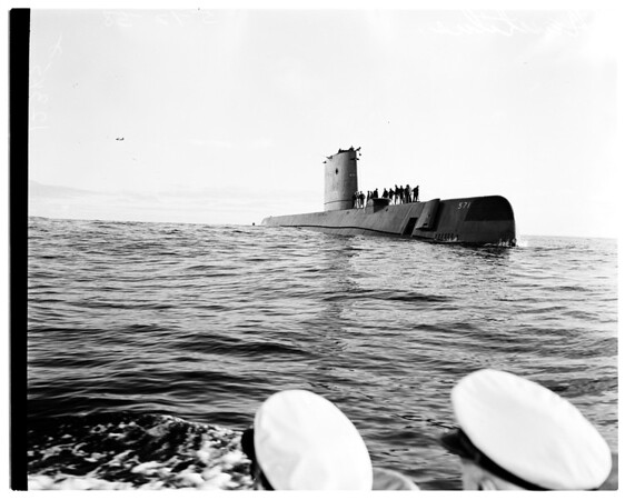 "USS ""Nautilus"", general view of the sub, 1958"