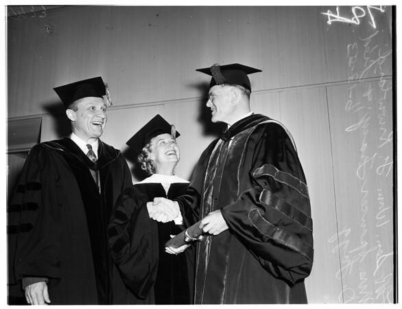 University of Southern California graduation, 1953