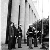 Flag presentation federal building, 1958