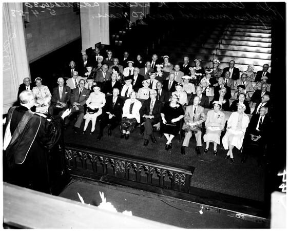 Golden wedding anniversaries at Hollywood First Methodist Church, 1958