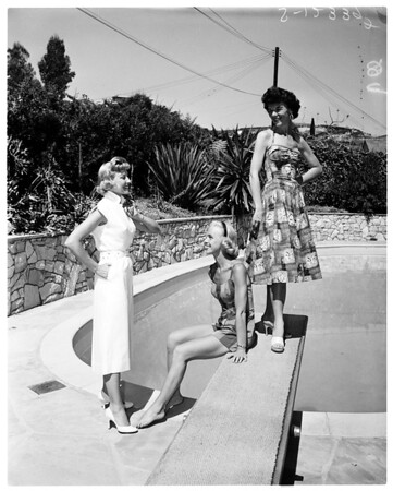 Children Home Society women planning maypole brunch, 1958