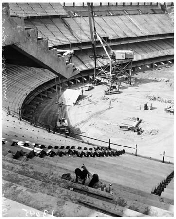 Chavez Ravine Dodgers ball park, 1961