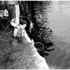 Kids fishing at Echo Park, 1958