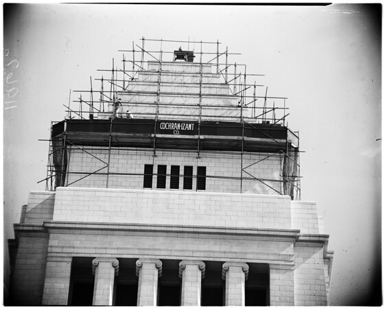 New roof for City Hall, 1956