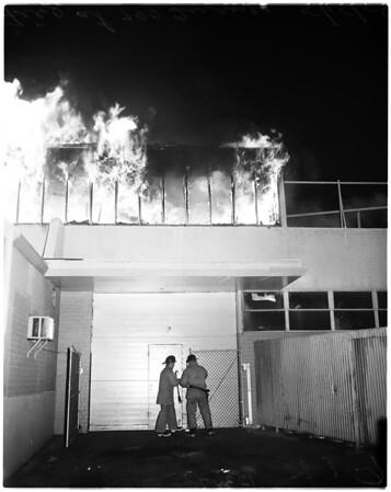 Fire at 700 block on Turner street, 1958