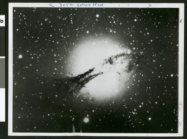 Photograph of the Galaxy NGC 5128 in southern sky, 1961