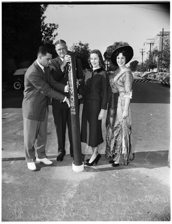 University of Southern California -- Road block, 1953