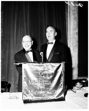 Merchants and Manufacturers banquet, 1958