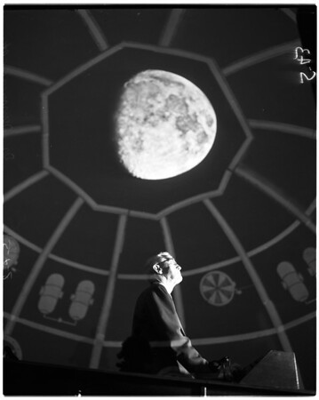 """Trip to the moon"" at Griffith Park Observatory, 1953"