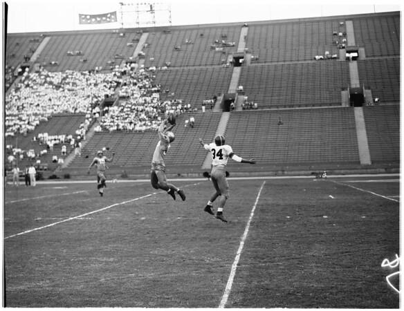 """Football"" -- UCLA vs USC (Frosh), 1955"