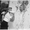 Pie throwing at University of Southern California, 1957