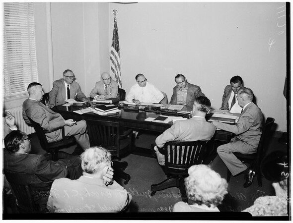 Fire Commission discussion on segregation, 1954