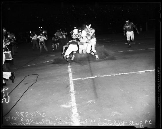 Football -- Rams versus Giants, 1958