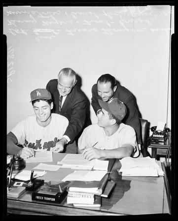 Baseball Dodgers new, 1958.