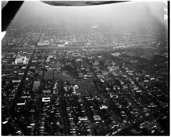 Air shots of Loyola University (Lind Flight Service), 1958