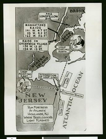 """Where dry raiders """"mopped up"""" in most thorough rum raids, 1929"""