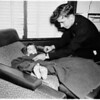 Lost girl found by policemen, 1958