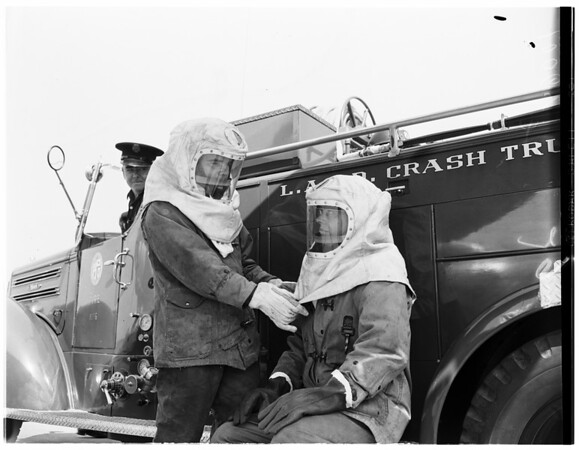 Airport Fire Department (Los Angeles Fire Department) Los Angeles International Airport, 1953