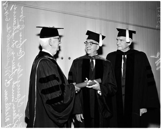 University of Southern California graduation, 1958
