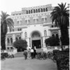 Shots of Doheny Library at University of Southern California, 1958