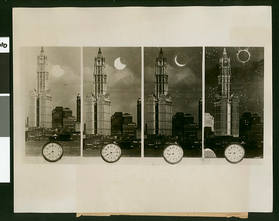How the eclipse of the sun will darken New York, 1925