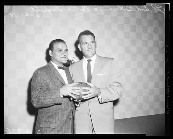 Football -- Rams new backfield coach, 1958