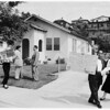 Council members tour rehabilitated areas, 1954