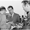 Vice President Nixon arrival, 1955