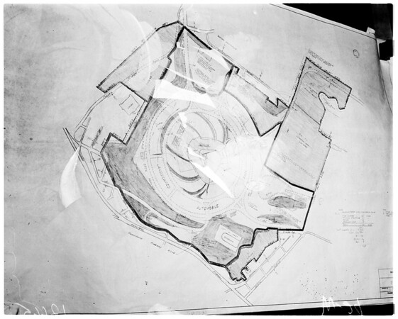 Map of Chavez Ravine (Dodgers map hearing), 1959