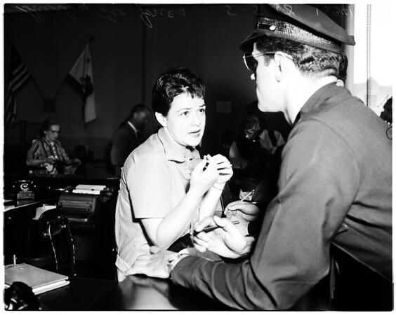 Bank robbery at Sunset and Alvarado, 1958
