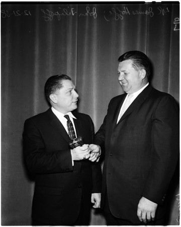 James Hoffa gives speech, 1958