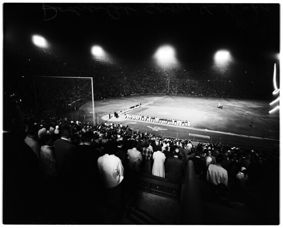 Baseball, Los Angeles Dodgers versus Chicago Cubs, 1960