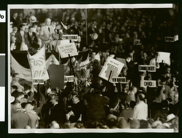 Cheering Senator Bingham on, 1932