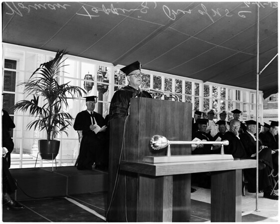 ROTC graduates at University of Southern California, 1959