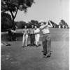 Nixon playing golf, 1955