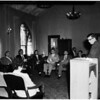 Living seminar at First Methodist Church at Highland Avenue and Franklin Avenue, 1958
