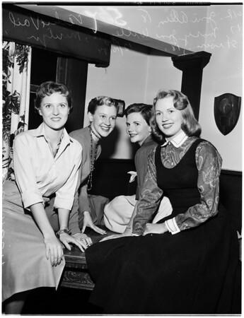 University of Southern California sweetheart of Sigma Chi, 1954