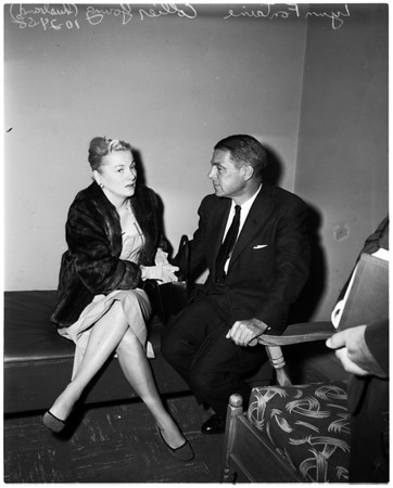 Joan Fontaine contempt hearing, 1958