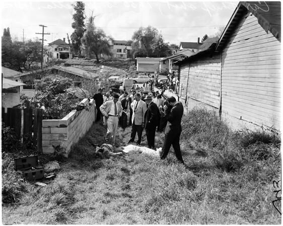 Car thief shot, 1958