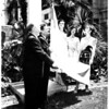 Israel flag raising at City Hall, 1958