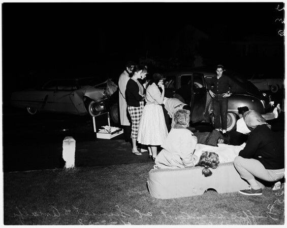 Traffic accident (Sunset and Amalfi Drive) West Los Angeles, 1958